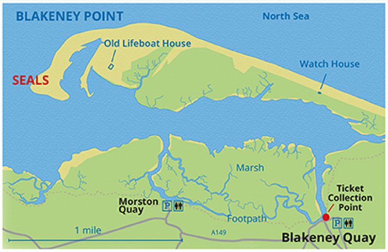 Blakeney Point Map