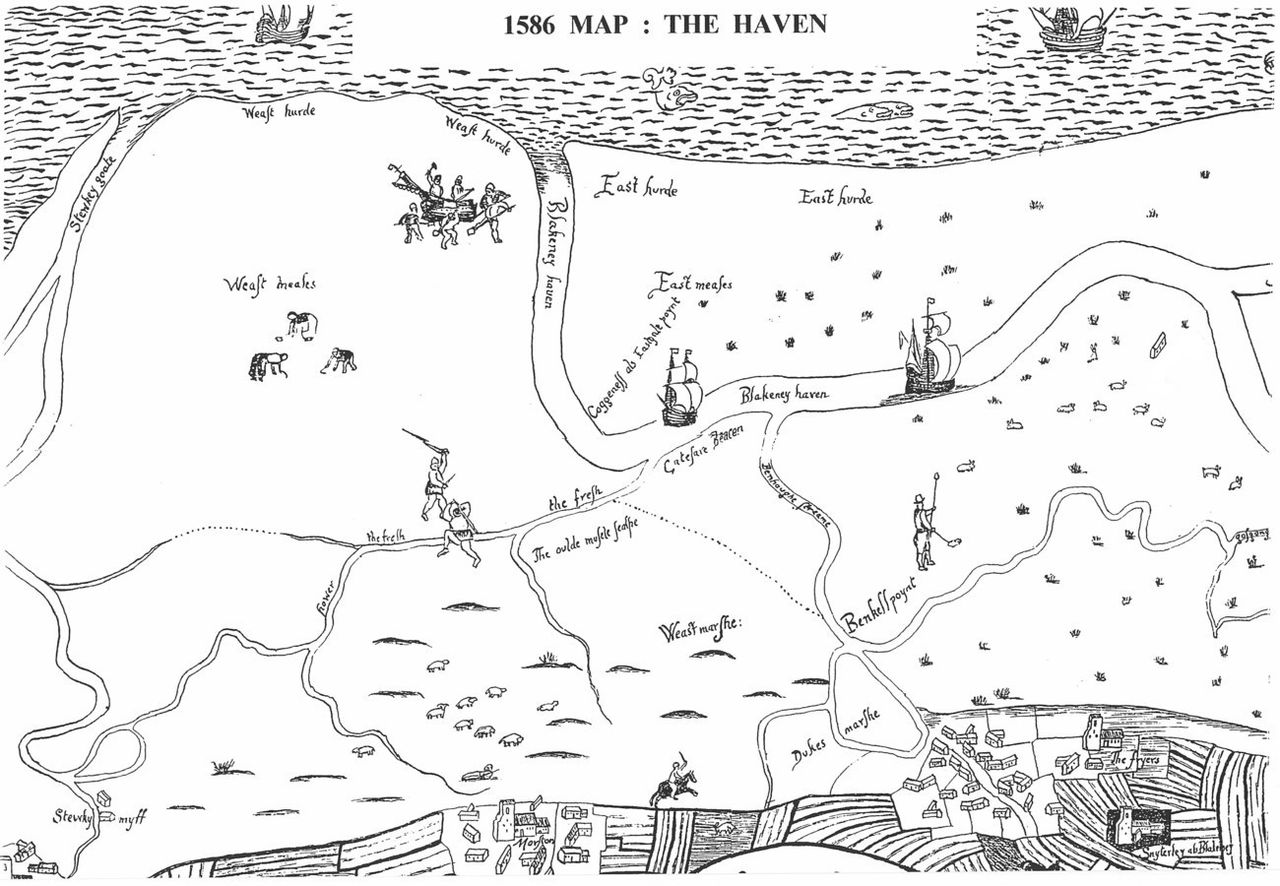 Map of the haven 1586
