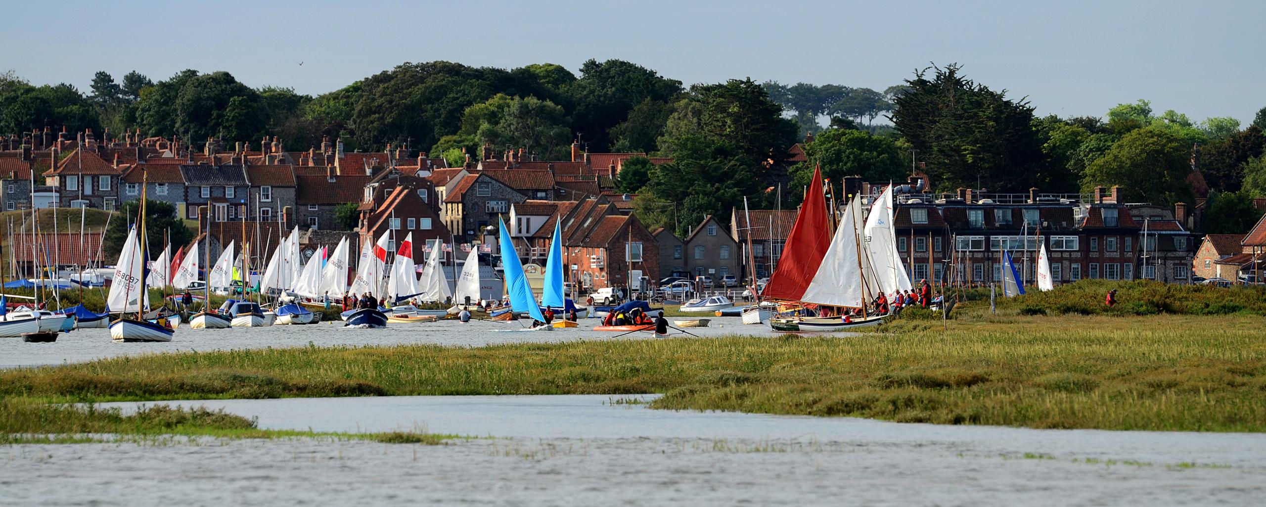Sailing Boats at Blakeney Quay